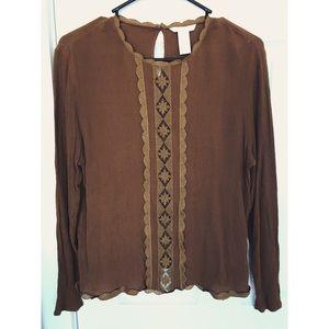 Gold H&M Long Sleeve Blouse